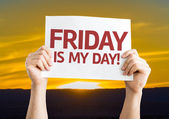 Friday Is My Day card — Stock Photo