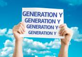Generation Y card — Stock Photo