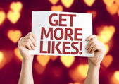 Get More Likes card — Stock Photo
