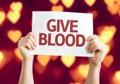 Give Blood card — Stock Photo