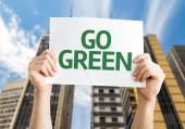 Go green karte — Stockfoto