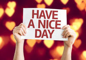 Have a Nice Day card — Stock Photo