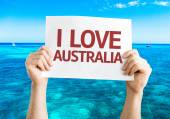 I Love Australia card — Stock Photo