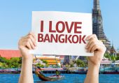 I Love Bangkok card — Stock Photo