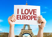 I Love Europe card — Stock Photo