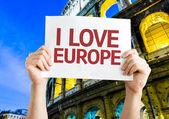 I Love Europe card — Stock Photo