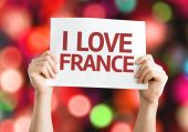 I Love France card — Stock Photo