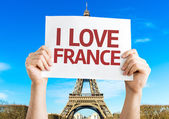 I Love France card — Stock Photo