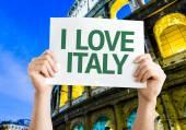 I Love Italy card — Stock Photo