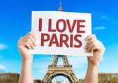 I Love Paris card — Stock Photo