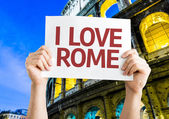 I Love Rome card — Foto de Stock