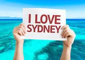 I Love Sydney card — Stock Photo