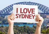I Love Sydney card — Stock Photo