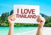 I Love Thailand card — Stock Photo