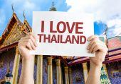 I Love Thailand card — Stock Photo