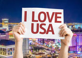 I Love USA card — Stock Photo