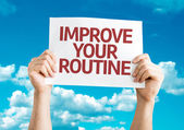 Improve Your Routine card — Stockfoto