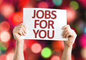 Jobs for You card with colorful background — Stock Photo