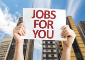 Jobs for You card — Stock Photo