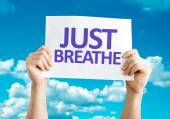 Just Breathe card — Stock Photo