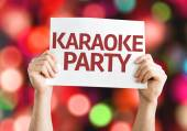 Karaoke Party card — Stock Photo
