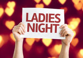 Ladies Night card — Stock Photo