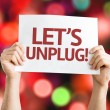 Let's Unplug! card — Stock Photo #64870109
