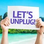 Let's Unplug! card — Stock Photo #64870161
