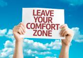 Leave Your Comfort Zone card — Stock Photo
