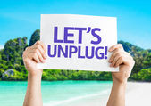 Let's Unplug! card — Stock Photo