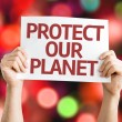 Protect Our Planet card — Stock Photo #64905343