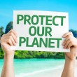Protect Our Planet card — Stock Photo #64905397