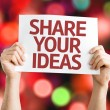 Share Your Ideas card — Stock Photo #64905581