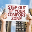 Постер, плакат: Step Out of Your Comfort Zone card