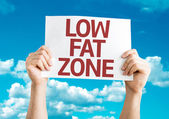 Low Fat Zone card — Stock Photo