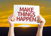 Make Things Happen card — Stock Photo
