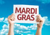 Mardi Gras card — Stock Photo