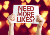 Need More Likes? card — Stockfoto