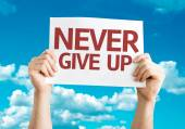 Never Give Up card — Stock Photo