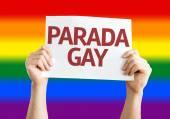 Gay Pride Parade (in Portuguese) card — Foto de Stock