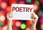 Poetry card with colorful background — Foto de Stock
