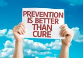 Prevention is Better than Cure card — Stock Photo