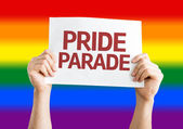 Pride Parade card — Stock Photo