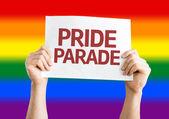 Pride Parade card — Zdjęcie stockowe