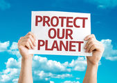 Protect Our Planet card — Stock Photo