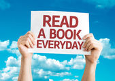 Read a Book Everyday card — Stock Photo