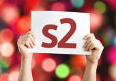 S2 card with colorful background — Stock Photo