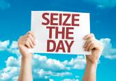 Seize the Day card — Stock Photo
