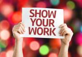 Show Your Work card — Stock Photo