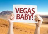 Vegas, Baby! card — Stock Photo